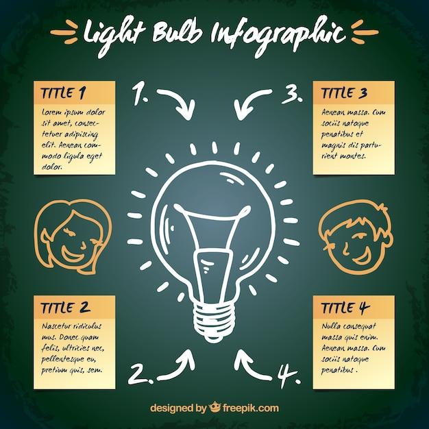 Ampoule Modèle Infographique Vecteur gratuit