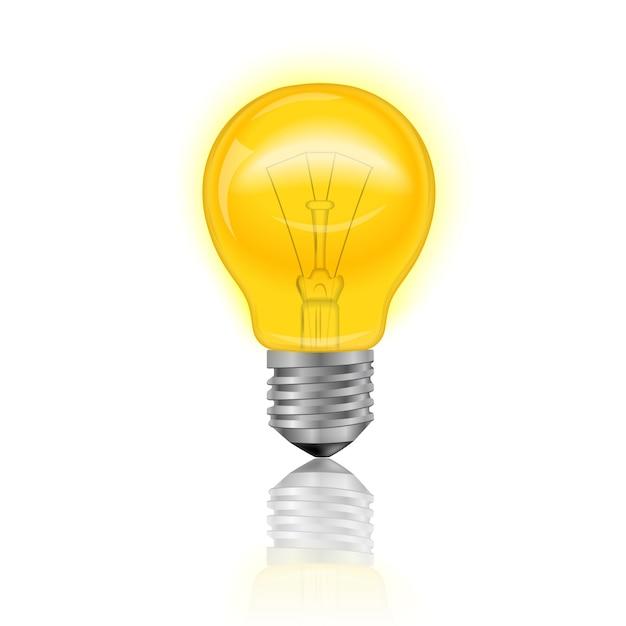 Ampoule réaliste Vecteur gratuit