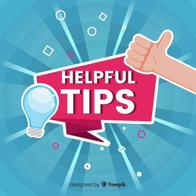 Ampoule utile astuce fond Vecteur gratuit