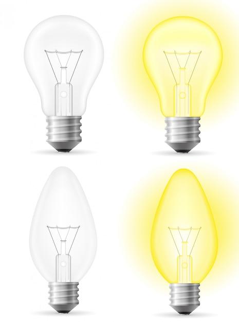 Ampoule. Vecteur Premium