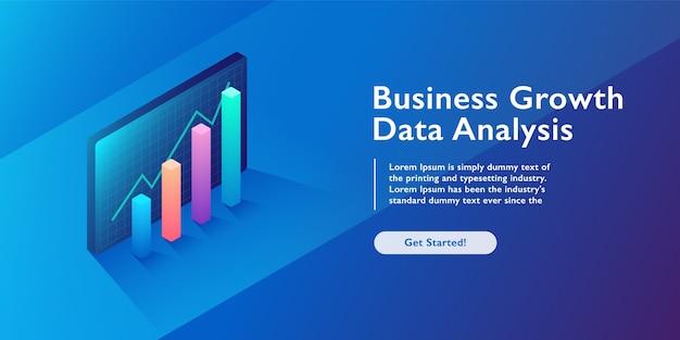 Analyse d'affaires Vecteur Premium