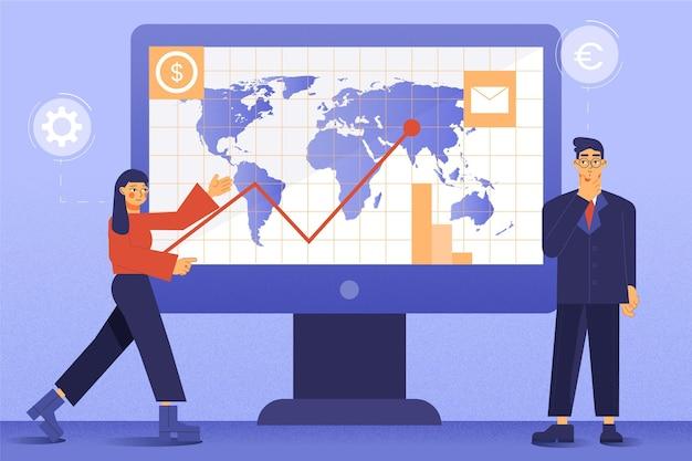 Analyse Boursière Vecteur gratuit