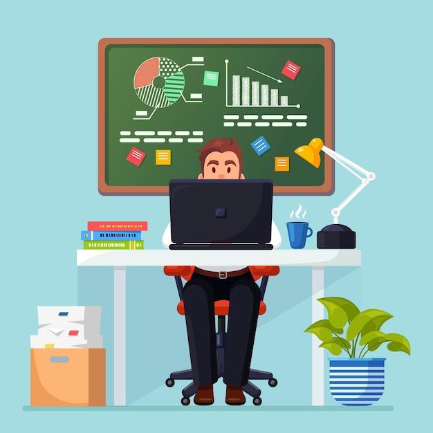Analyse Commerciale, Analyse De Données, Statistiques De Recherche, Planification. Vecteur Premium