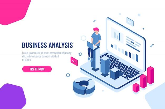 Analyse commerciale Vecteur gratuit