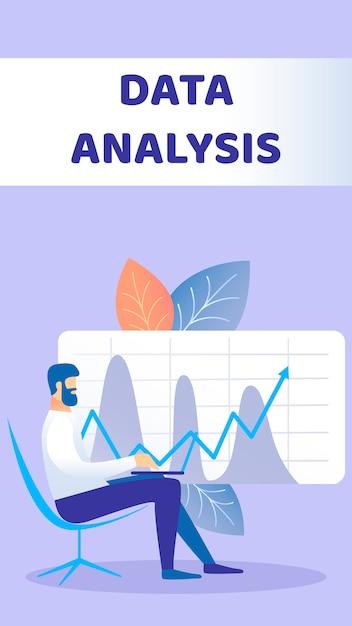 Analyse de données flyer plat Vecteur Premium