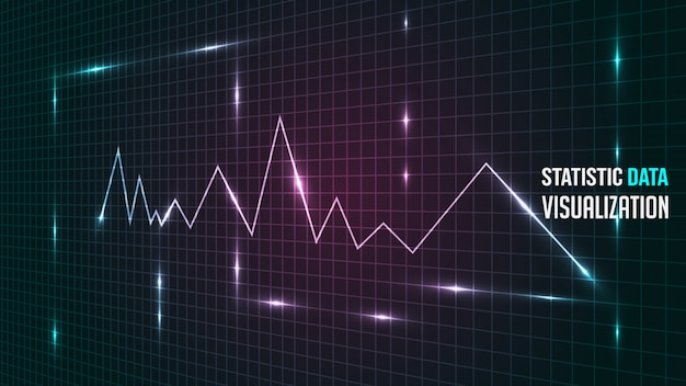 Analyse de données statistiques visualisation contexte Vecteur Premium