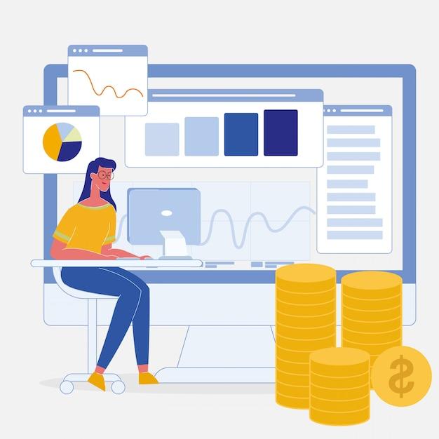 L'analyse des données Vecteur Premium