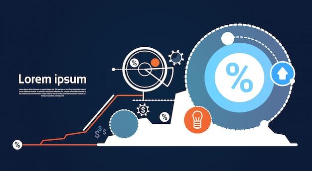 Analyse finance graphique graphique business financial Vecteur Premium