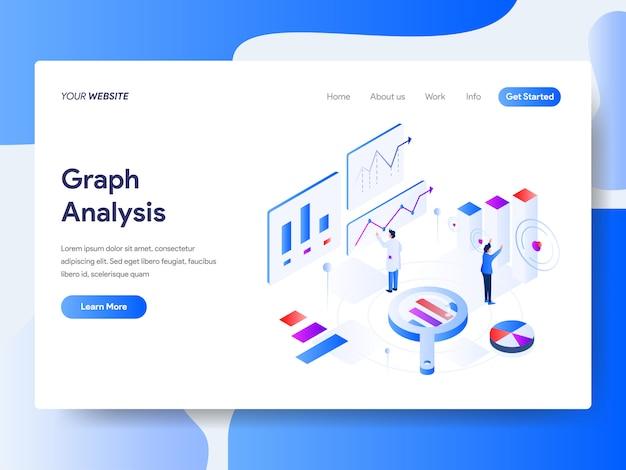 Analyse graphique isométrique pour la page web Vecteur Premium