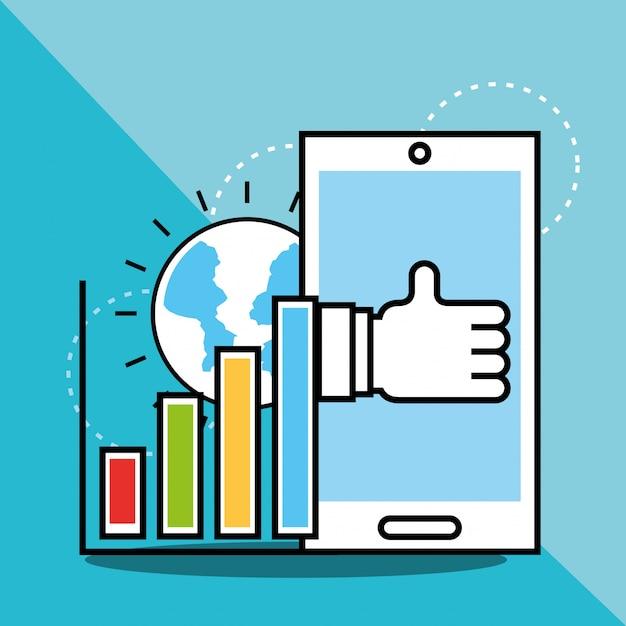 Analyse et investissement Vecteur Premium