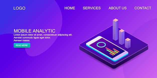 Analyse mobile Vecteur Premium
