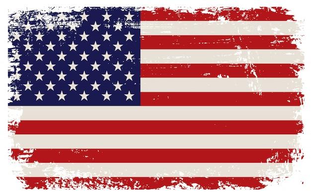 Ancien drapeau des etats-unis Vecteur Premium
