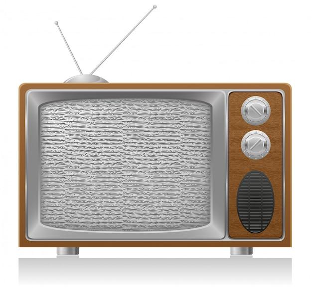 Ancienne illustration vectorielle tv Vecteur Premium