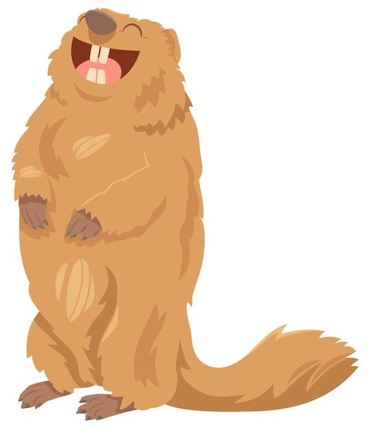 Animal De Marmotte De Dessin Anime Vecteur Premium