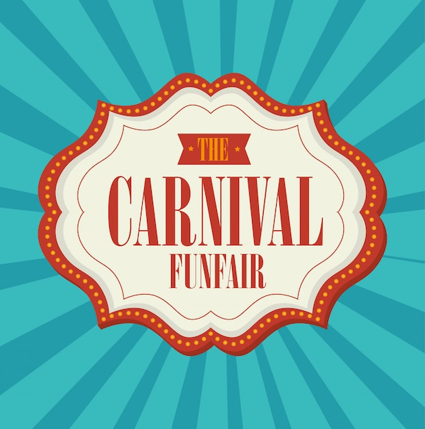 Animation de carnaval de cirque Vecteur Premium