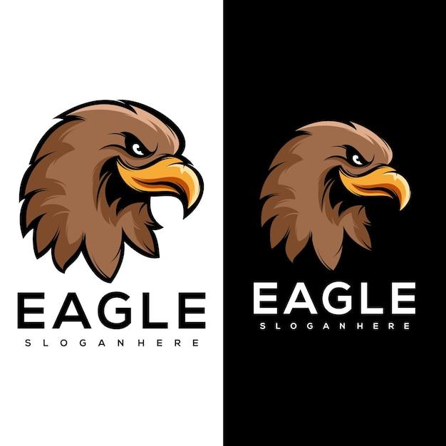 Animaux Aigle Logo Sport Vecteur Premium