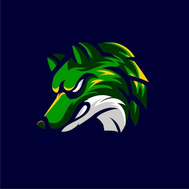 Animaux Wolf Logo Style Sportif Vecteur Premium