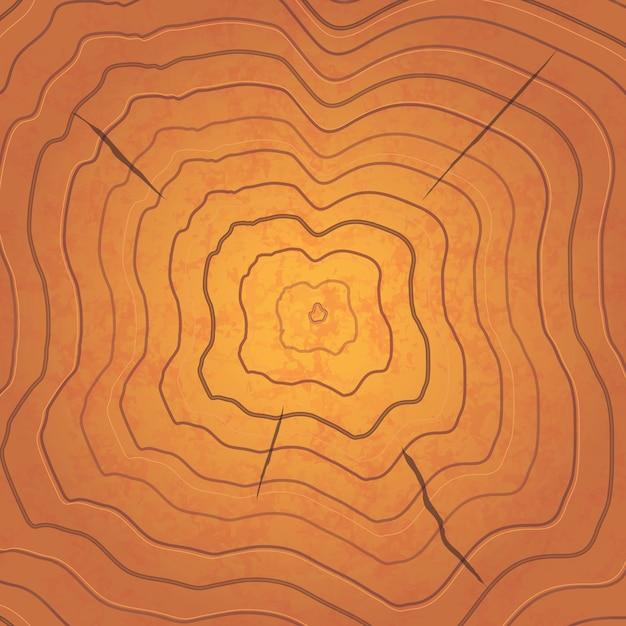 Anneaux bruns brillants, illustration carrée réaliste Vecteur Premium