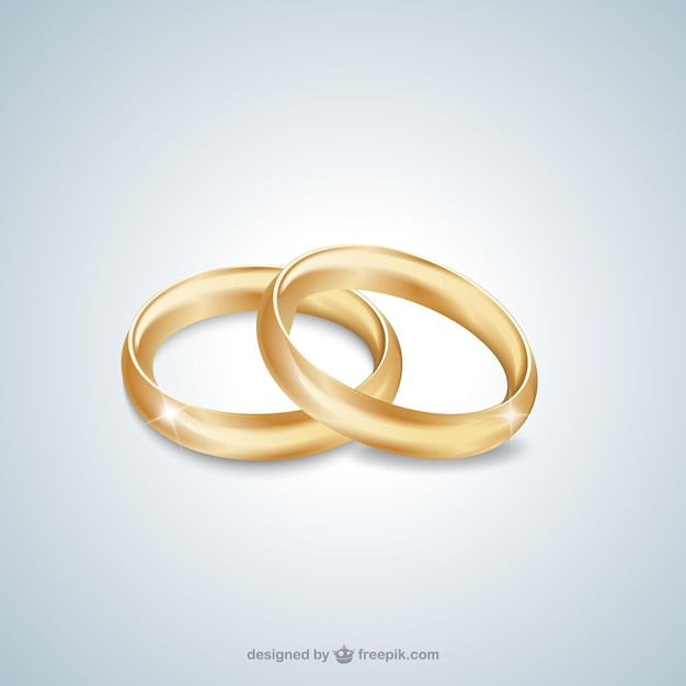 Anneaux de mariage en or  Télécharger des Vecteurs gratuitement