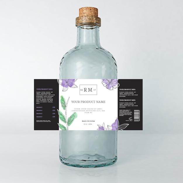 Annonce De Boisson Floral étiquette De Printemps Vecteur gratuit