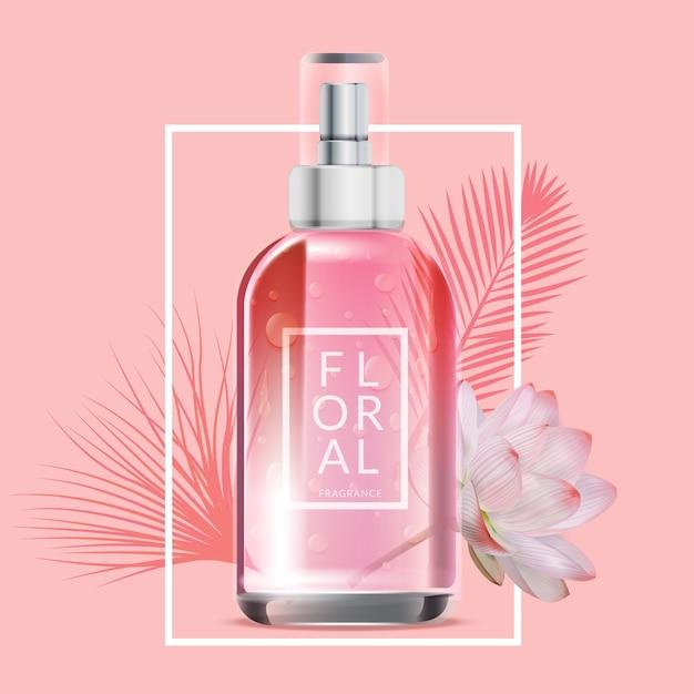 Annonce Cosmétique Parfum Floral Vecteur gratuit
