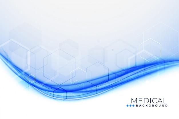Antécédents médicaux de forme ondulée bleue Vecteur gratuit