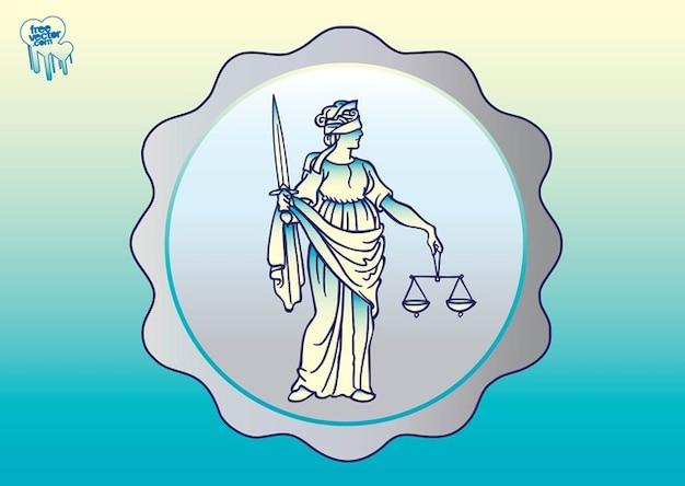Antique dame justitia vecteur Vecteur gratuit