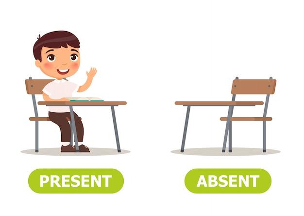 Antonymes illustration vectorielle et contraires Vecteur Premium