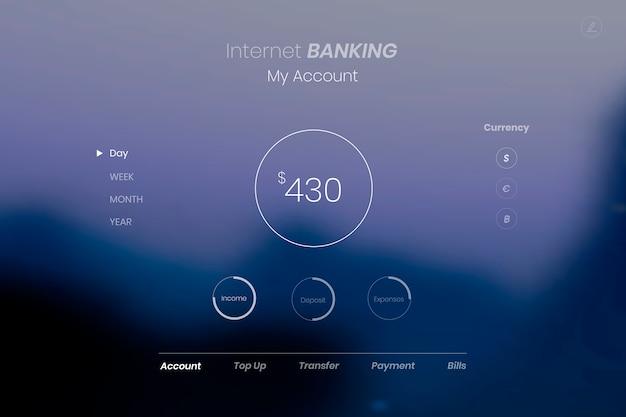 Aperçu des services bancaires par internet Vecteur gratuit