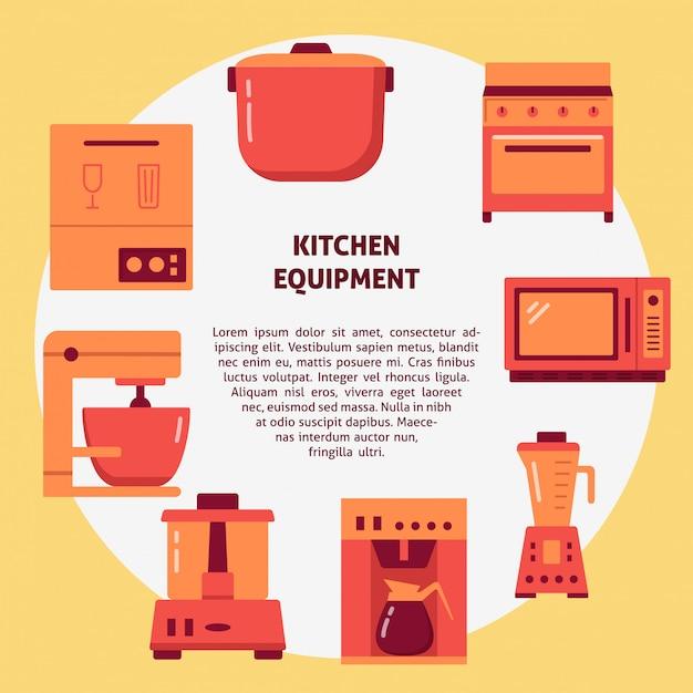 Appareils de cuisine appareils ménagers Vecteur Premium