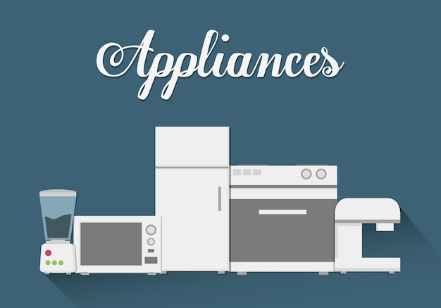 Appareils Ménagers Technologiques Vecteur Premium