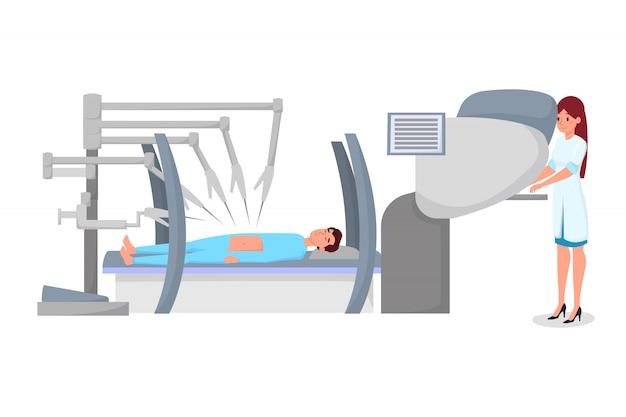 Appartement De Chirurgie Robotique Moderne Vecteur Premium