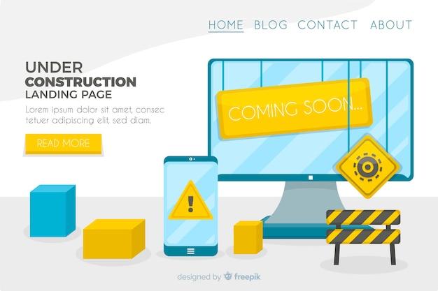 Appartement en construction page de destination Vecteur gratuit