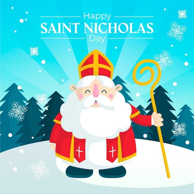 Appartement Deisgn Jour De La Saint-nicolas Vecteur gratuit
