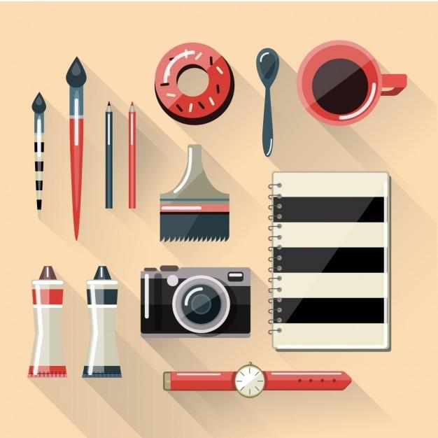 Appartement Designer Workspace Vecteur gratuit