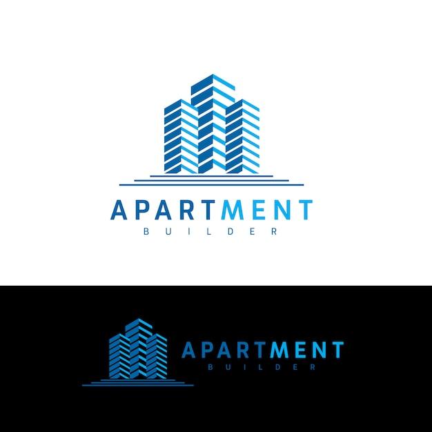 Appartement-immobilier-logo Vecteur Premium
