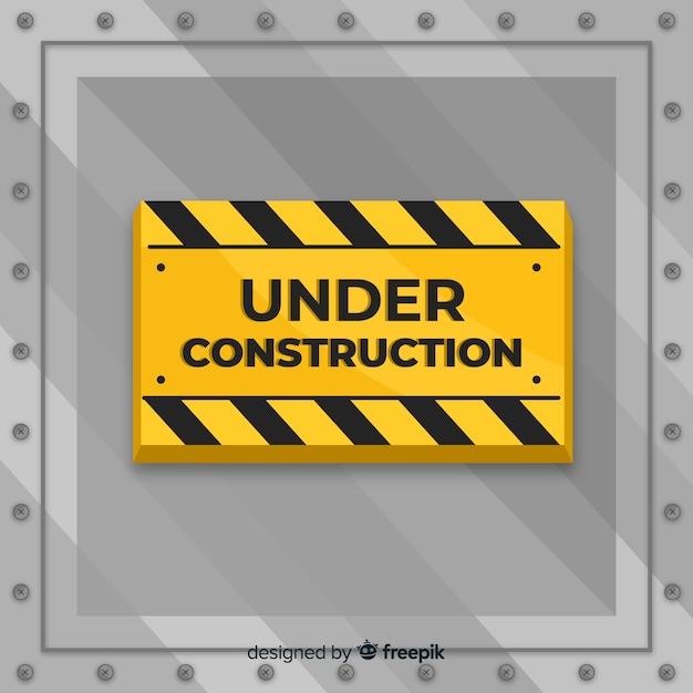 Appartement sous fond de signe de construction Vecteur gratuit