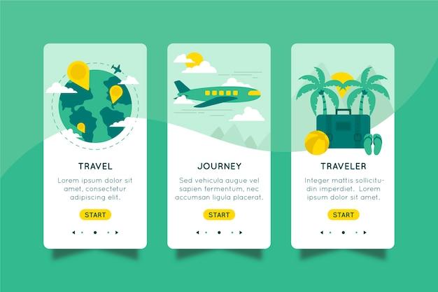 Application D'intégration Pour Le Concept De Voyage Vecteur gratuit