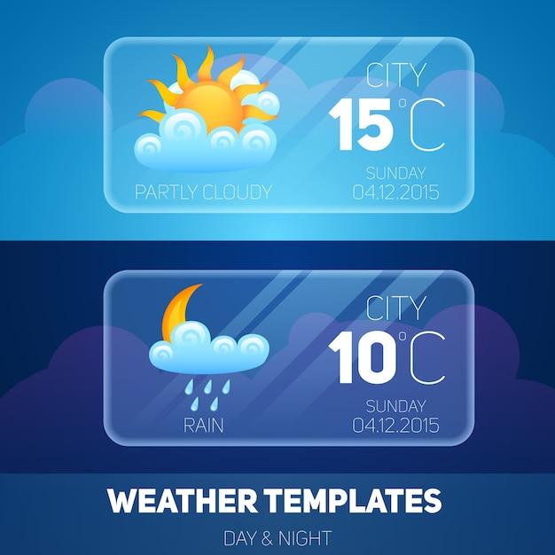 Application mobile météo Vecteur gratuit