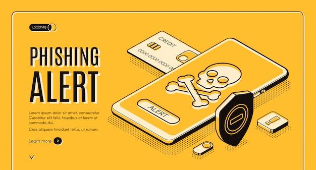 Application mobile de sécurité d'alerte de phishing, solution de protection des données personnelles et des finances sécurisée contre les personnes non autorisées Vecteur gratuit