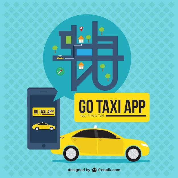 application taxi fond avec la carte dans la conception plate t l charger des vecteurs gratuitement. Black Bedroom Furniture Sets. Home Design Ideas