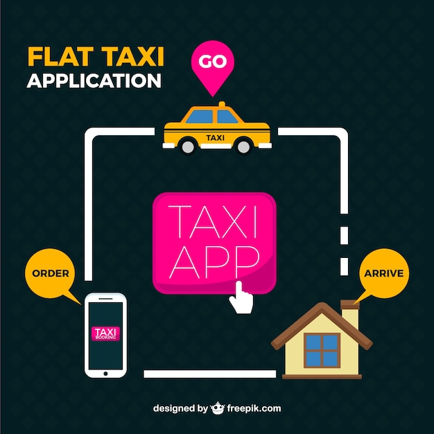 application taxi fond t l charger des vecteurs gratuitement. Black Bedroom Furniture Sets. Home Design Ideas