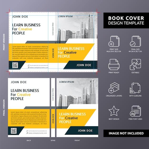 Apprendre des affaires pour les créatifs modèle de couverture de livre Vecteur Premium