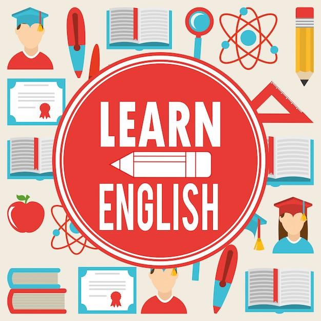 Apprendre Le Design Anglais Vecteur gratuit