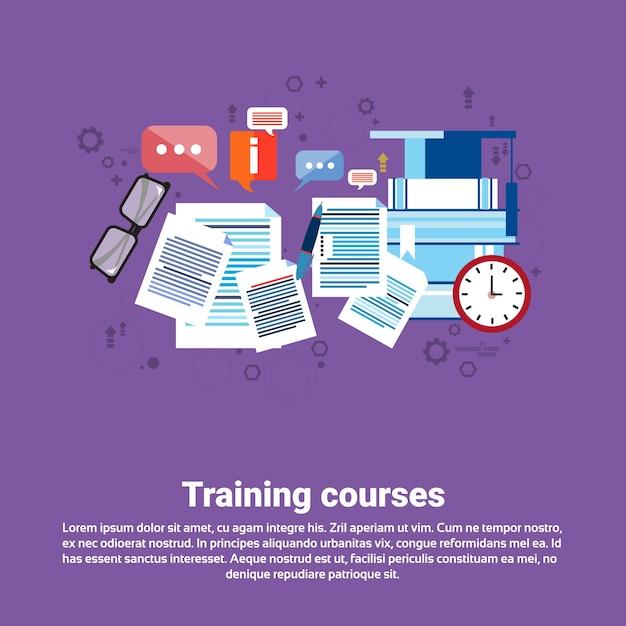 Apprentissage Des Cours De Formation Bannière Web De L'éducation Vecteur Premium