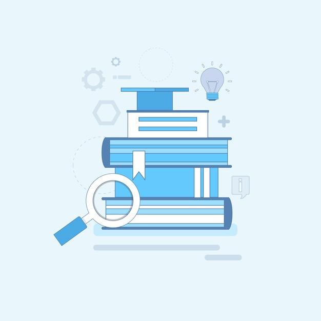 Apprentissage Des Cours De Formation Education Web Thin Line Vector Illustration Vecteur Premium