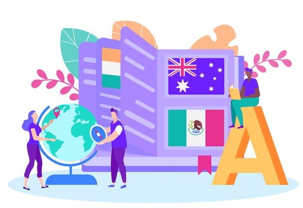 Apprentissage international à distance par pays Vecteur Premium