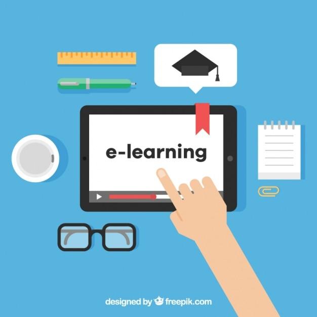 apprentissage num u00e9rique avec personne utilisant une tablette