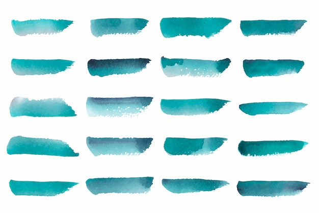 Aquarelle abstraite peinte en vert Vecteur gratuit