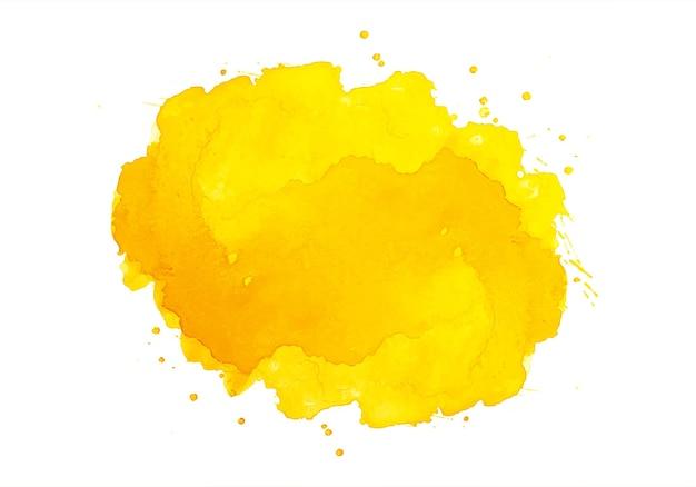 Aquarelle Abstraite Splash Orange Vecteur gratuit
